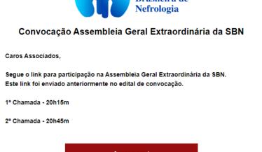Convocação Assembleia Geral Extraordinária da SBN