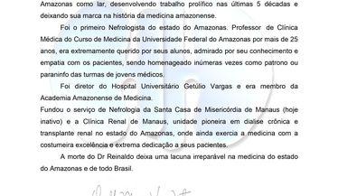 Nota de Falecimento Prof Reinaldo Gonzalez
