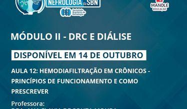 Confira a aula 12 do módulo de DRC e Diálise do Curso de Atualização da SBN