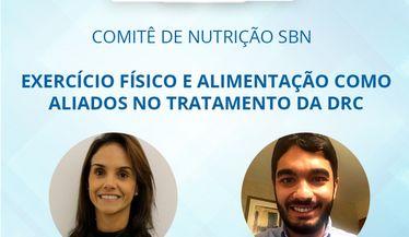 """Live Comitê de Nutrição sobre """"Exercício físico e alimentação como aliados no tratamento da DRC"""""""