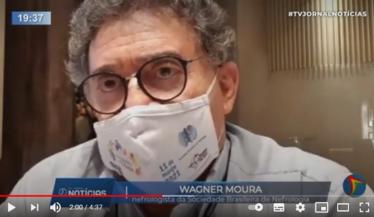 Participação do Dr. Wagner Moura em matéria na TV Jornal, afiliada do SBT