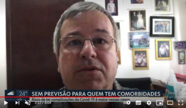 Presidente da SBN fala sobre vacinação contra Covid-19 para pacientes renais no SPTV 1- Globo