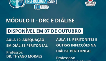 Confira a aula 10 do módulo de DRC e Diálise do Curso de Atualização da SBN