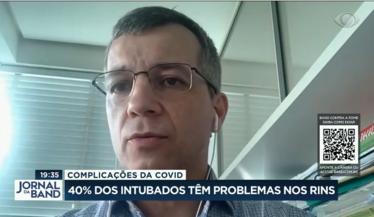 Dr. Dirceu Reis, Presidente da Regional do RS fala das complicações renais em intubados no Jornal da Band