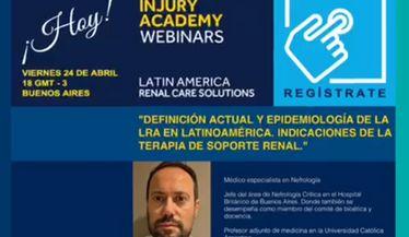 Definición actual y epidemiología de la LRA en Latinoamérica. Indicaciones de la terapia de soporte renal