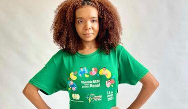 Thelma Assis apoia a campanha do Dia Mundial do Rim