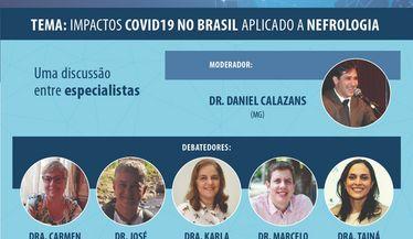 """Primeira live no SBN na web sobre """"Os impactos Covid 19 no Brasil aplicado a nefrologia"""""""